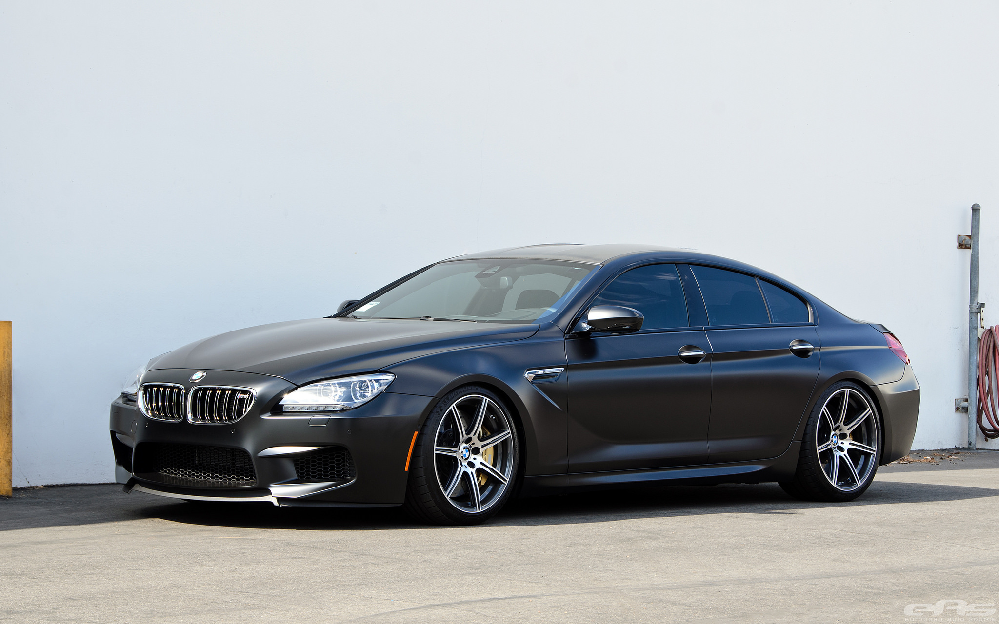 Frozen Black Bmw M6 Gran Coupe By Eas