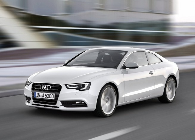 2012 Audi A5 Coupe Front Angle 6 655x471