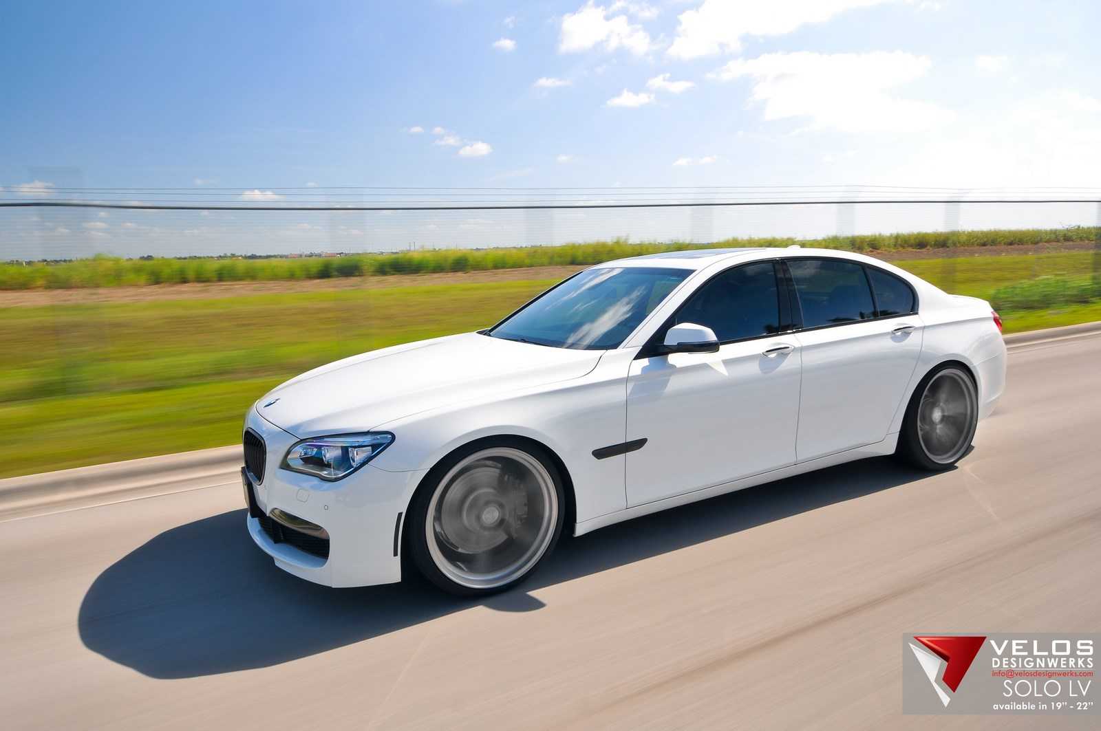 2013 BMW 750i Velos Designwerks 22 Solo LV Wheels 07