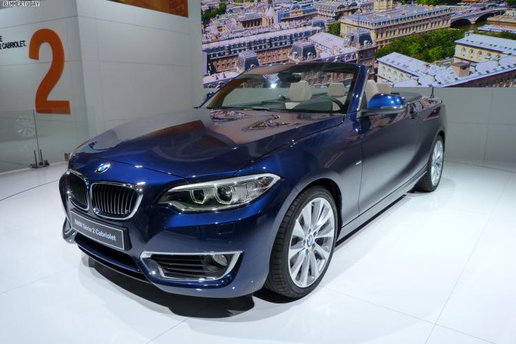 2014 BMW 2er Cabrio F23 220d Tiefseeblau Luxury Line Weltpremiere Paris LIVE 13 750x500