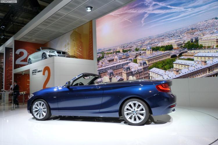 2014 BMW 2er Cabrio F23 220d Tiefseeblau Luxury Line Weltpremiere Paris LIVE 17 750x500