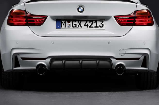 2014 BMW 4 Series M Performance Parts rear diffuser 655x434