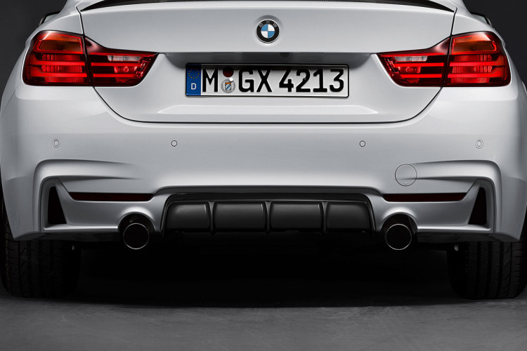 2014 BMW 4 Series M Performance Parts rear diffuser2 750x500