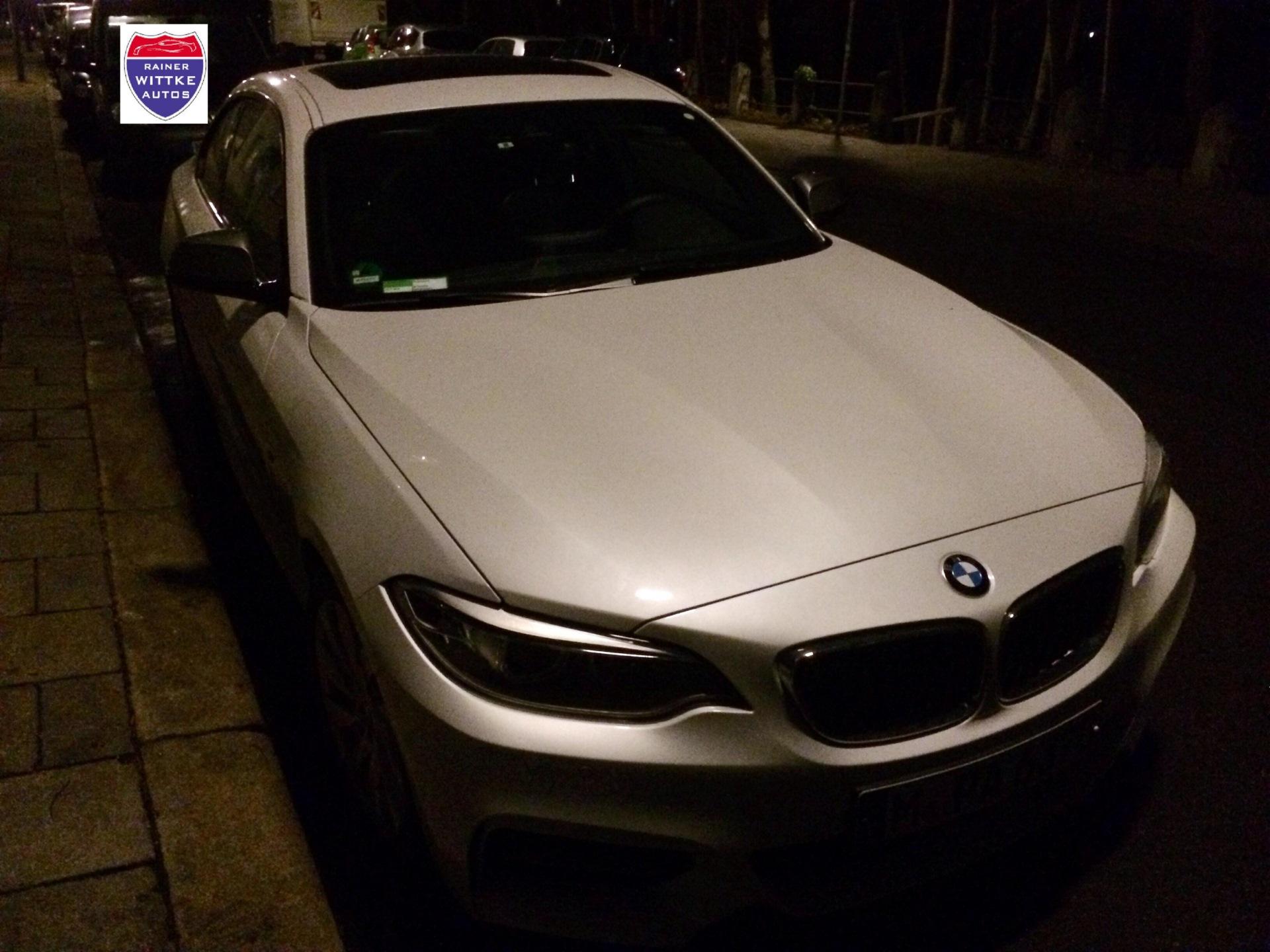 2014 BMW M235i ungetarnt weiss 2er F22 wi car 01