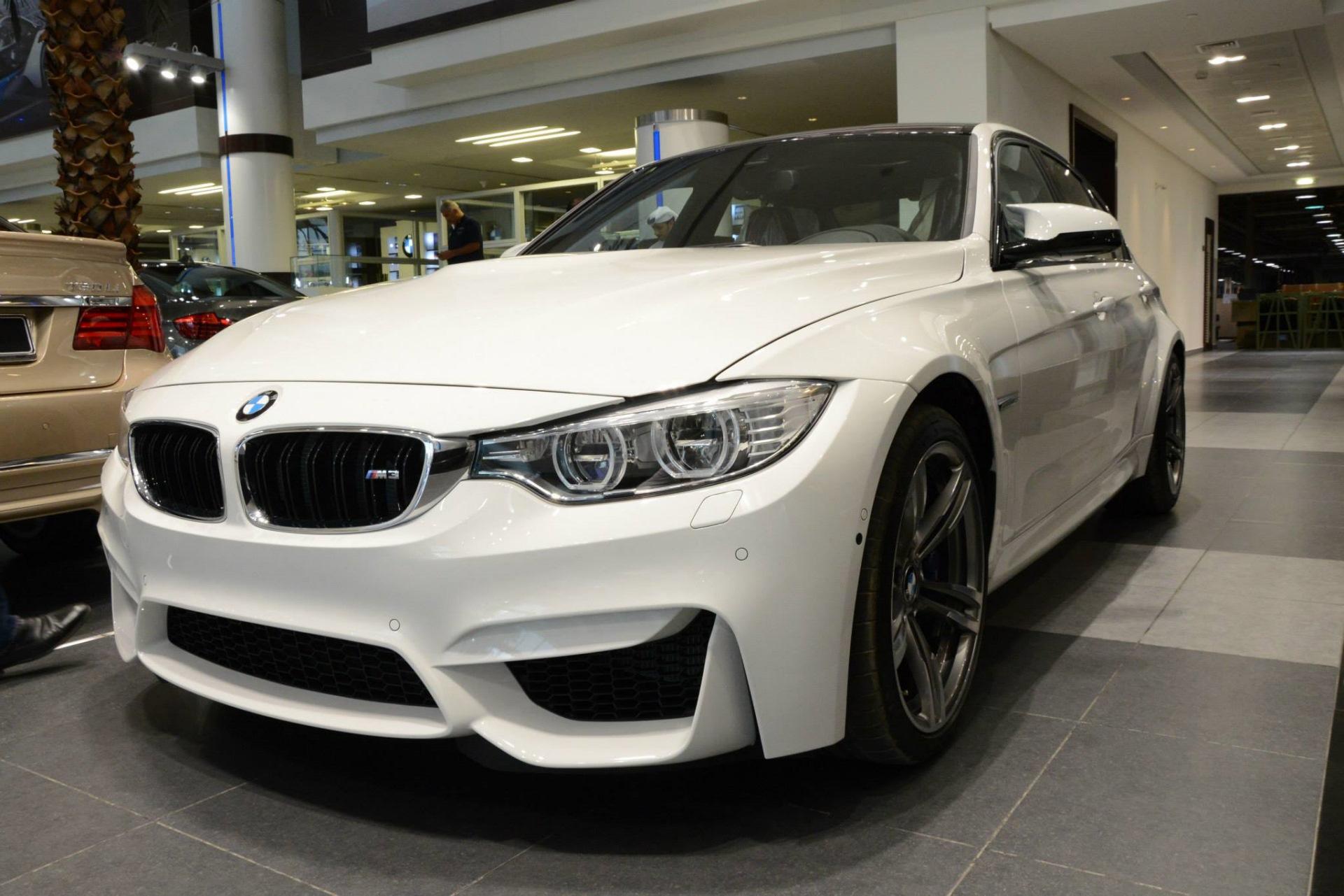 F80 BMW M3 in Alpine White at Abu Dhabi Motors