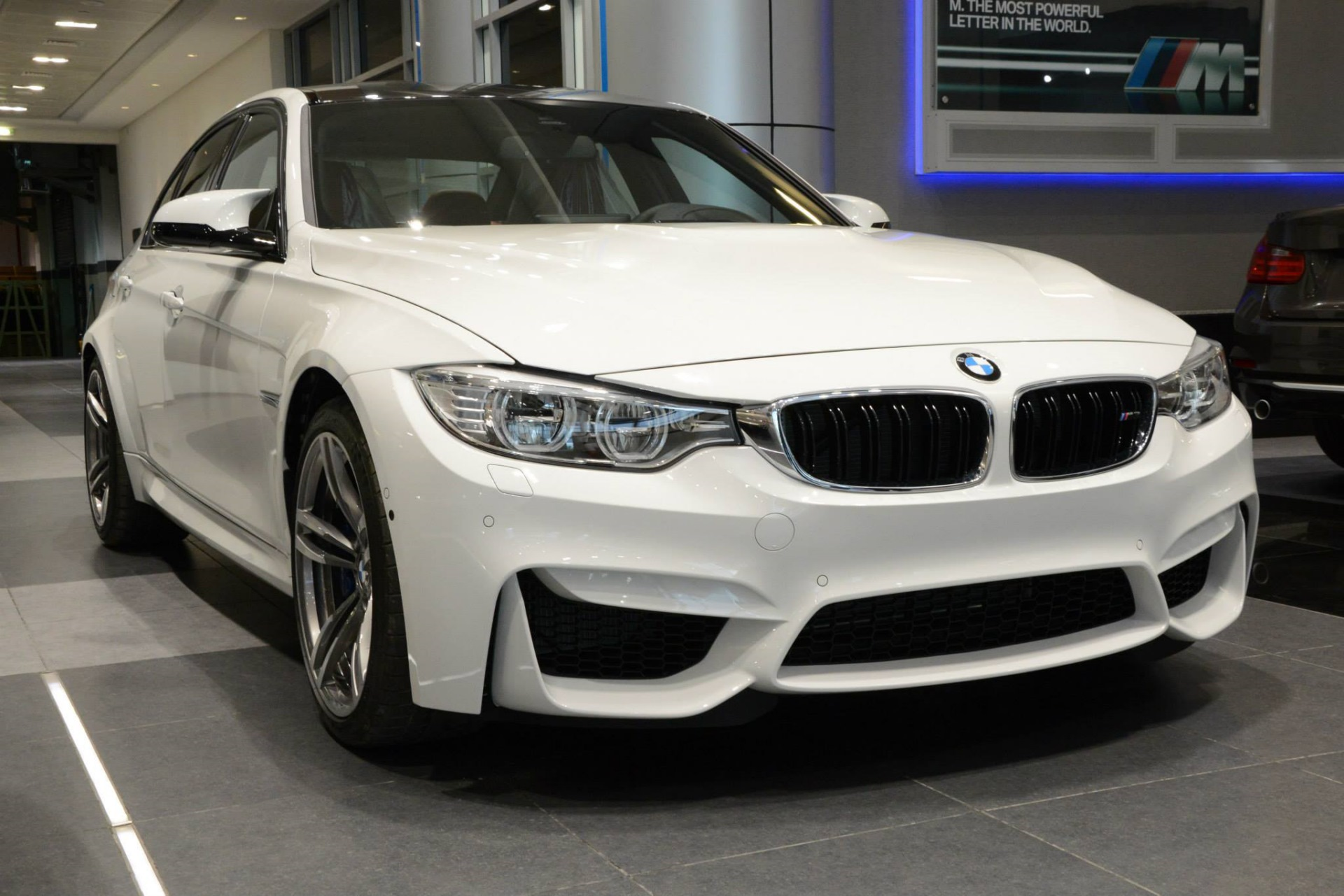F80 Bmw M3 In Alpine White At Abu Dhabi Motors