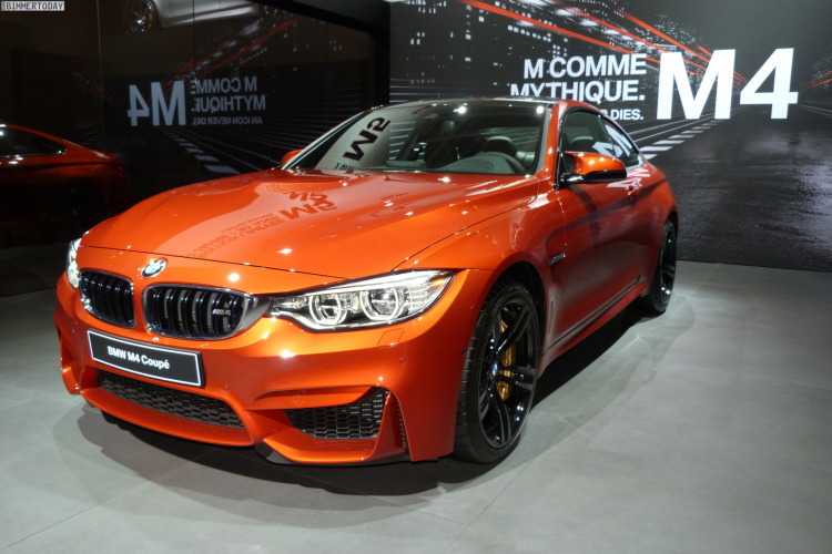 2014 BMW M4 Coupe F82 Sakhir Orange Autosalon Paris LIVE 02 750x500