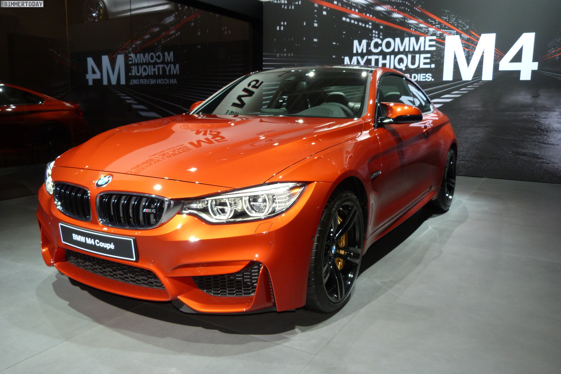 2014 Paris Motor Show Bmw M4 Coupe In Sakhir Orange