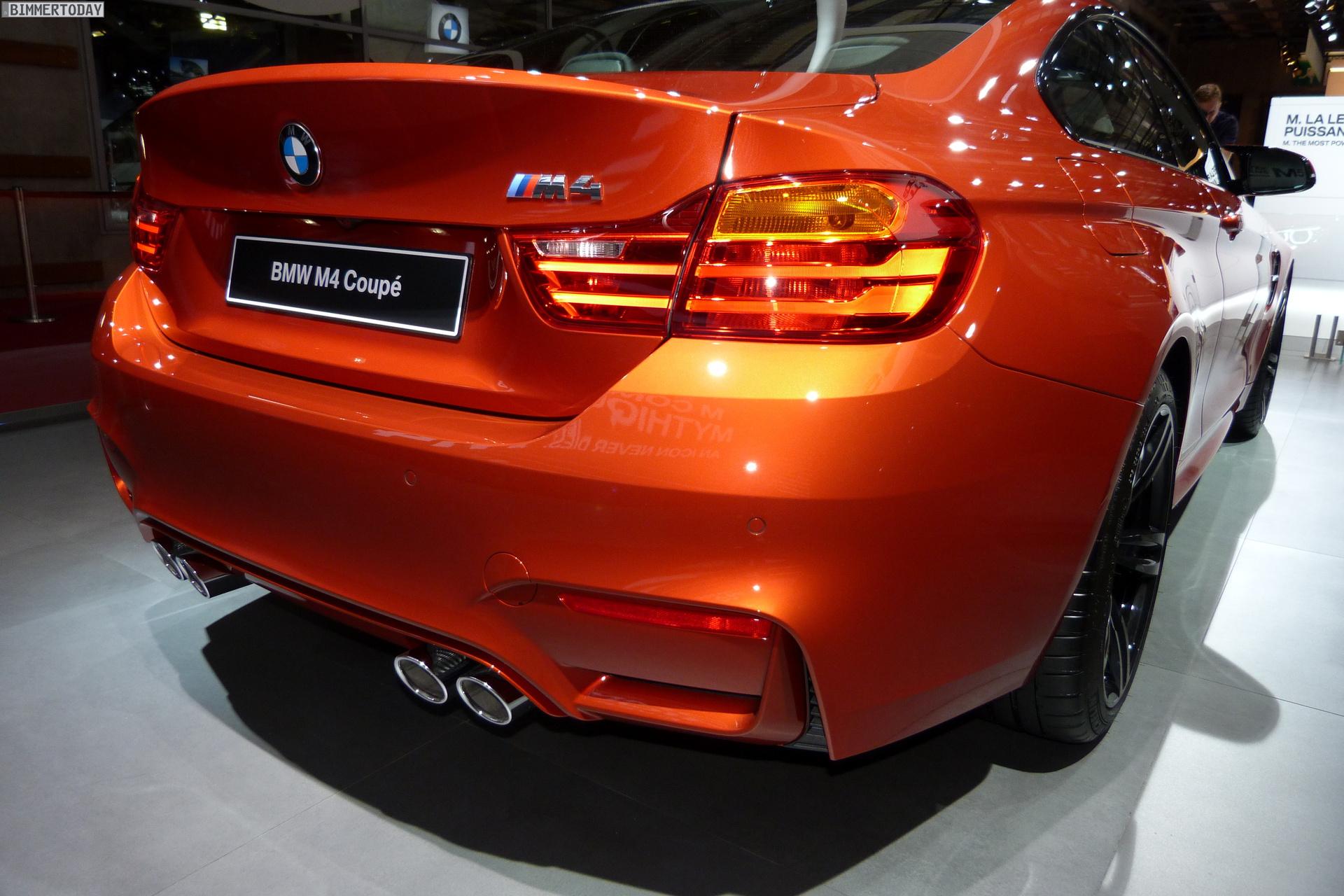 2014 BMW M4 Coupe F82 Sakhir Orange Autosalon Paris LIVE 16