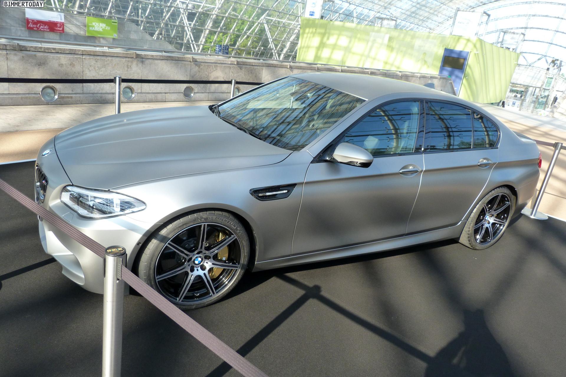 2014 BMW M5 F10 30 Jahre Sondermodell Frozen Dark Silver AMI Leipzig LIVE 22