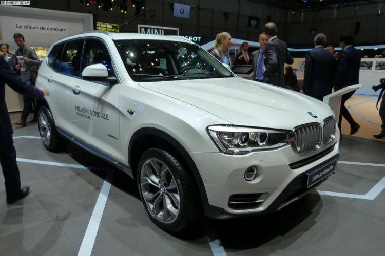 2014 BMW X3 F25 LCI Facelift 20d xLine Paket Genfer Autosalon Live 14 750x500
