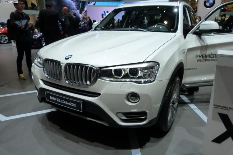 2014 BMW X3 F25 LCI Facelift 20d xLine Paket Genfer Autosalon Live 19 750x500