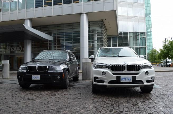 2014 BMW X5 F15 vs E70 Vergleich Foto schwarz weiss 01 655x433