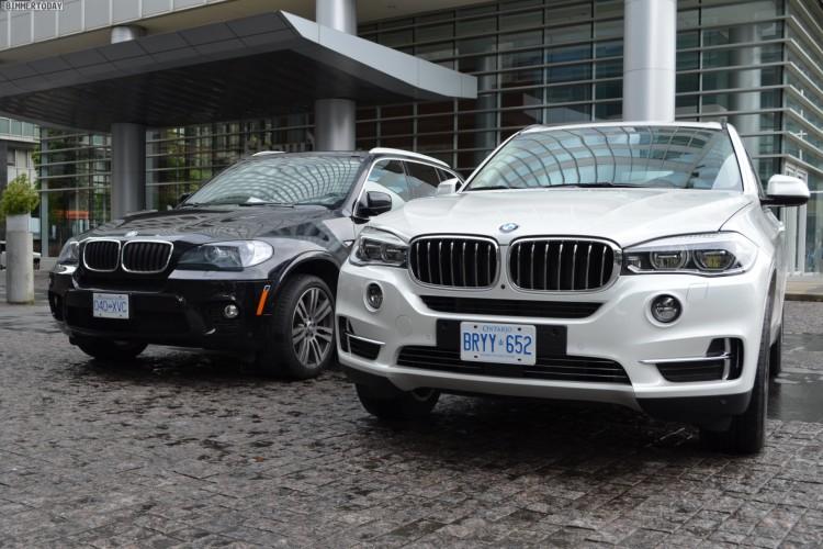 2014 BMW X5 F15 vs E70 Vergleich Foto schwarz weiss 12 750x500