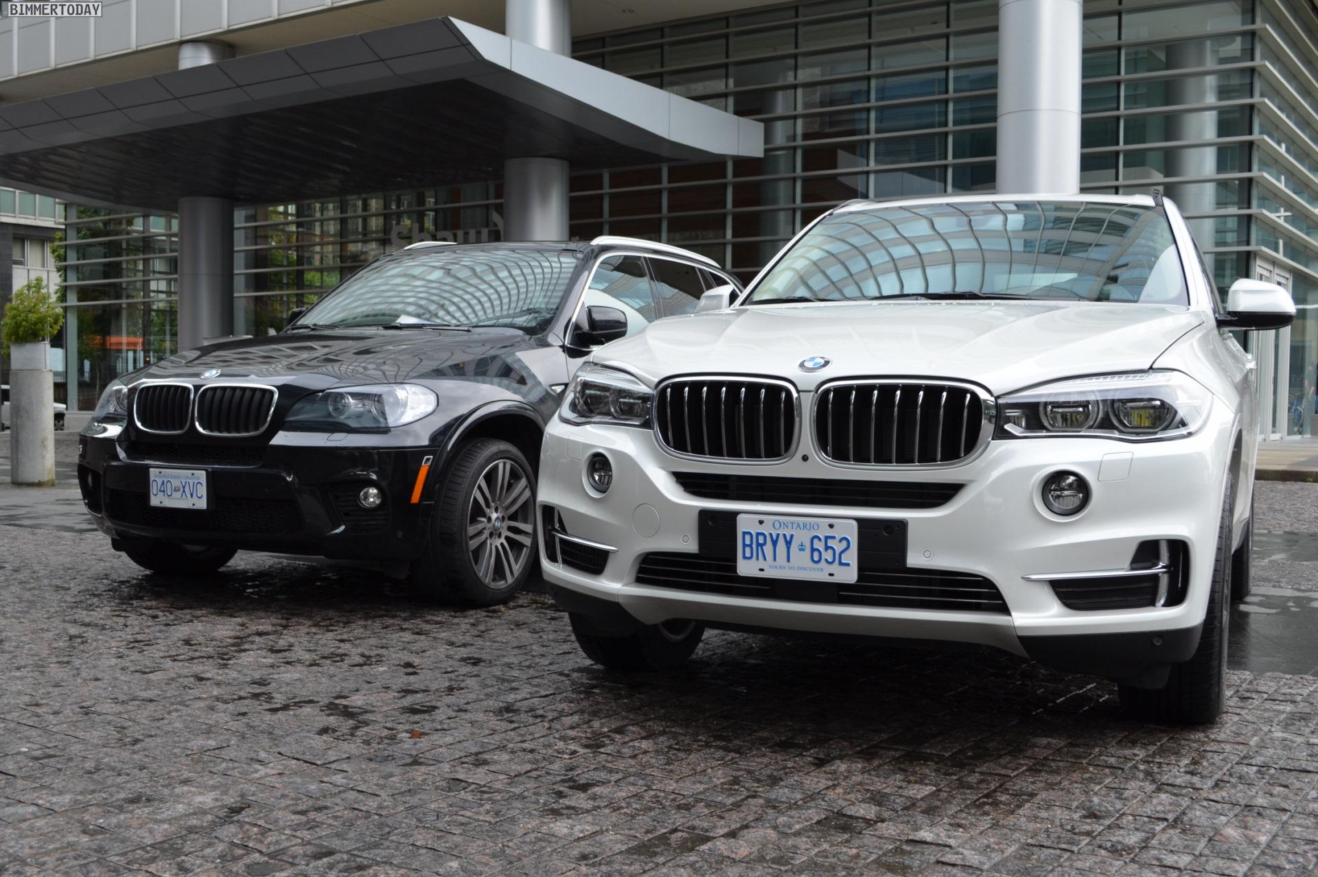 2014 BMW X5 F15 vs E70 Vergleich Foto schwarz weiss 12