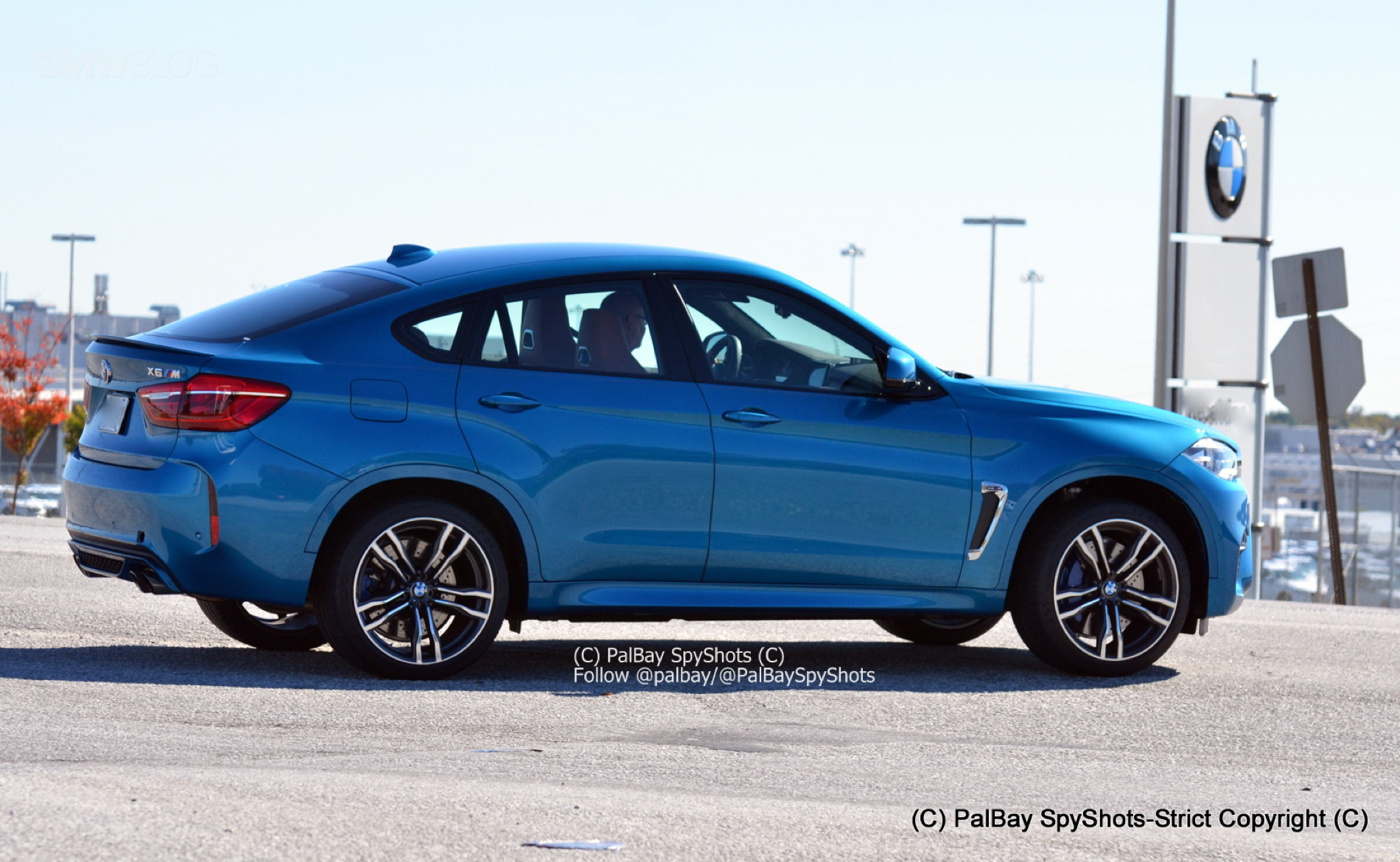 2015 Bmw X6 M In Long Beach Blue Color Real Life Photos