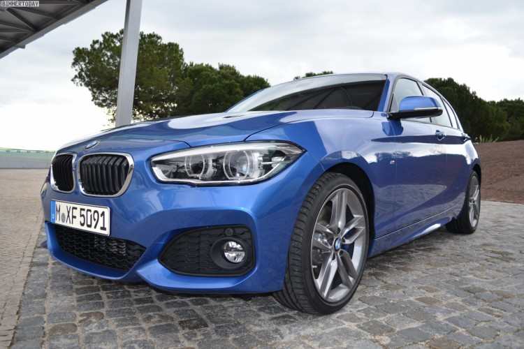 2015 BMW 1er F20 LCI Facelift M Sportpaket Estoril Blau 09 750x500