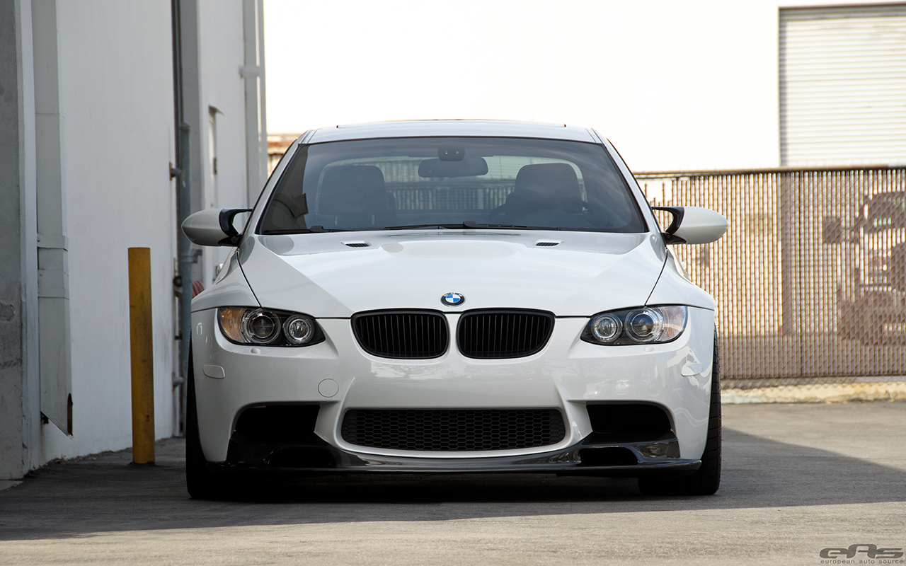 Alpine White BMW E92 M3 With Vorsteiner Goodies Installed 11