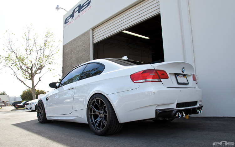 Alpine White BMW E92 M3 With Vorsteiner Goodies Installed