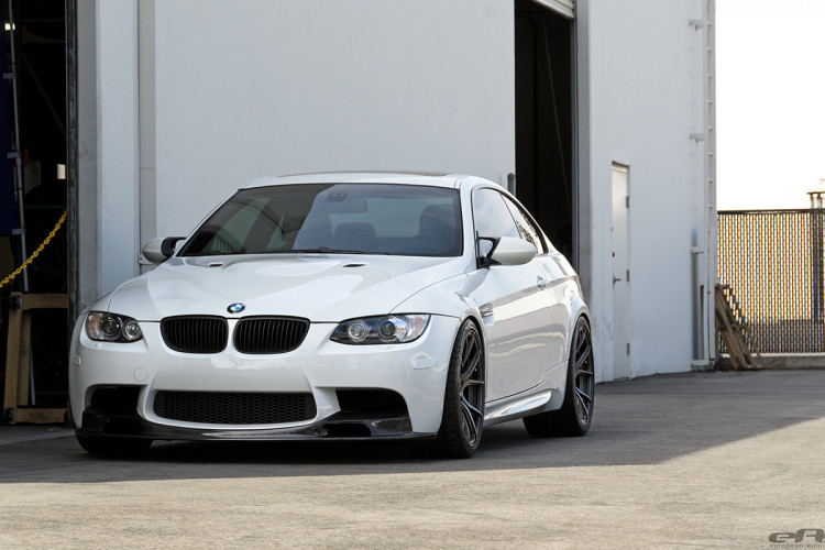 Alpine White BMW E92 M3 With Vorsteiner Goodies Installed 9 750x500
