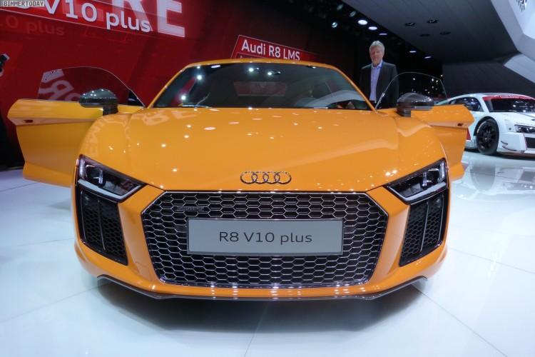 Audi R8 V10 plus quattro 2015 Genf Autosalon Live 03 750x500
