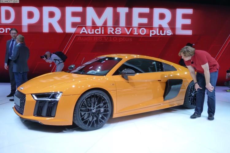 Audi R8 V10 plus quattro 2015 Genf Autosalon Live 10 750x500