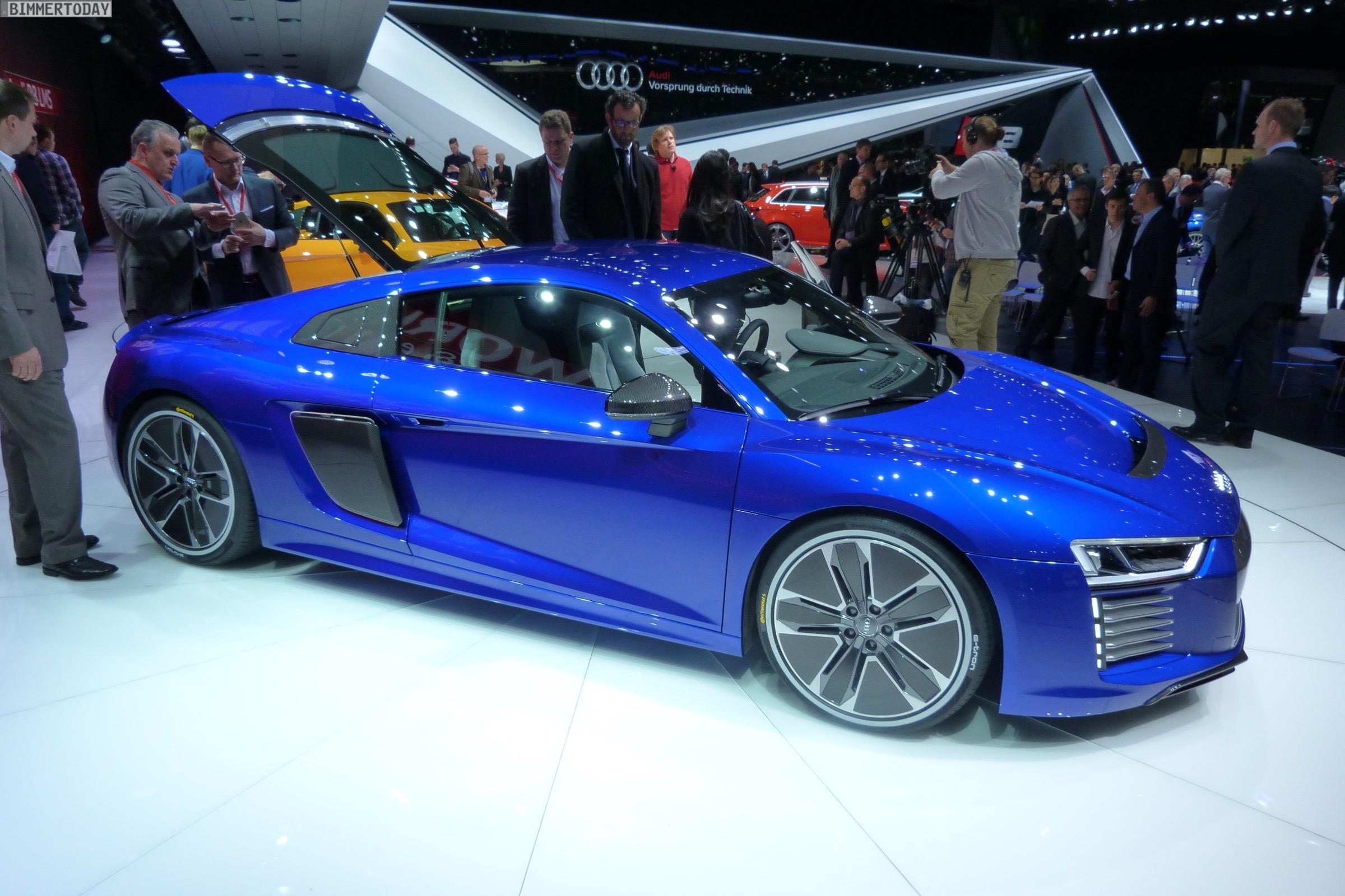 Audi R8 e tron 2015 Genf Autosalon Live 13