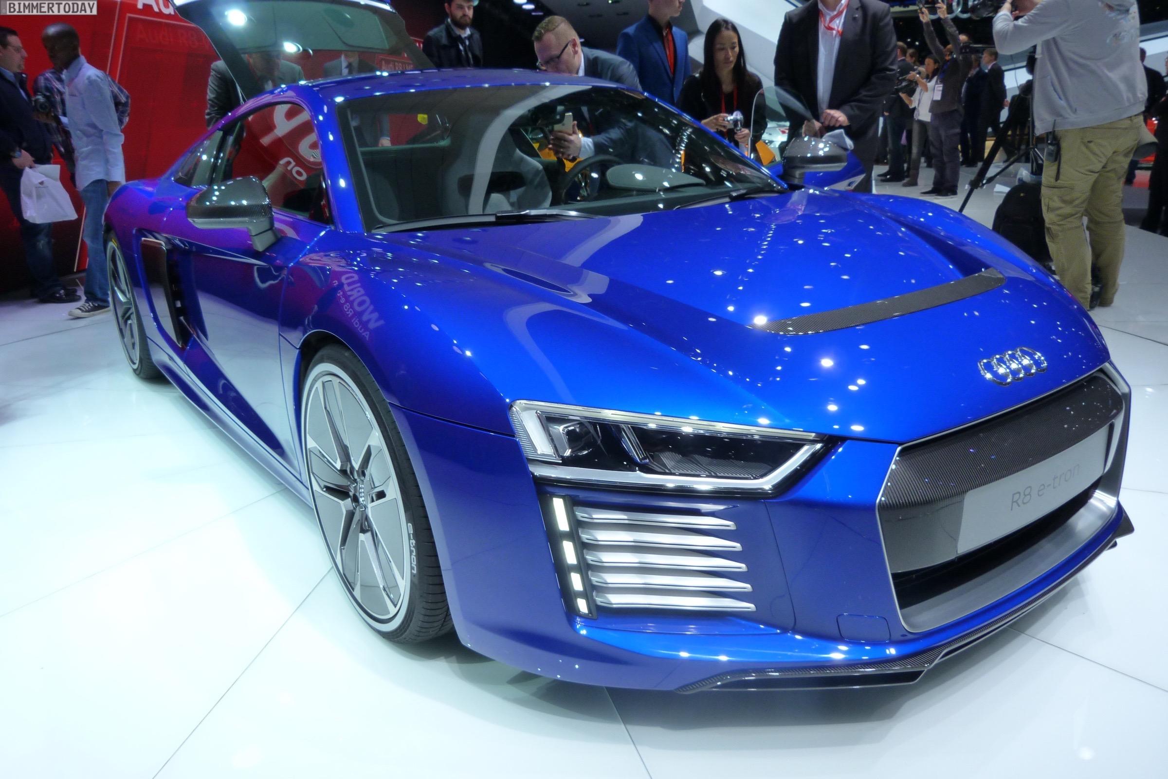 Audi R8 e tron 2015 Genf Autosalon Live 14