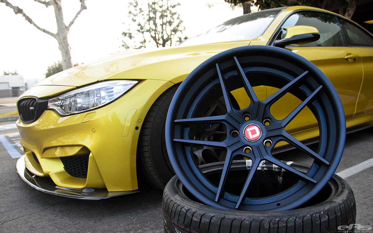 Austin Yellow BMW F82 M4 With Klassen Wheels Installed By European Auto Source 1