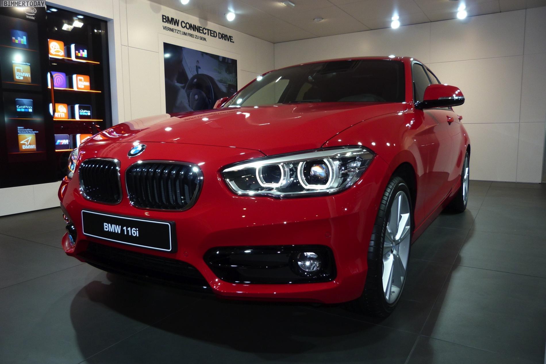 BMW 1 series facelift images geneva 01