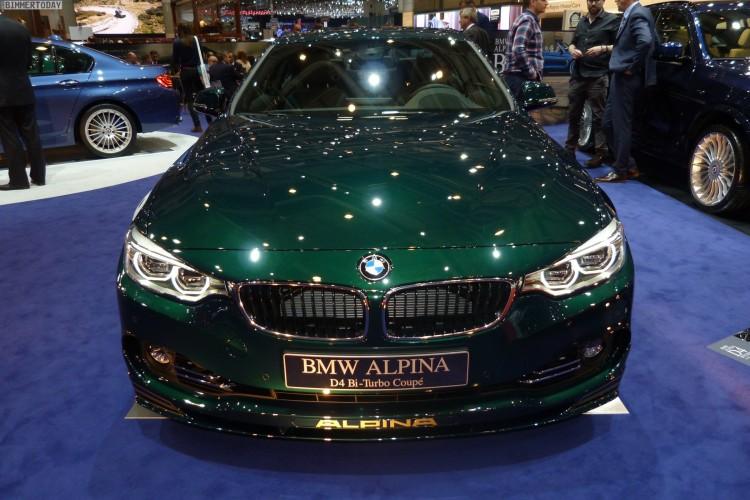 BMW Alpina D4 Coupe F32 Gruen 2015 Genf Autosalon Live 14 750x500
