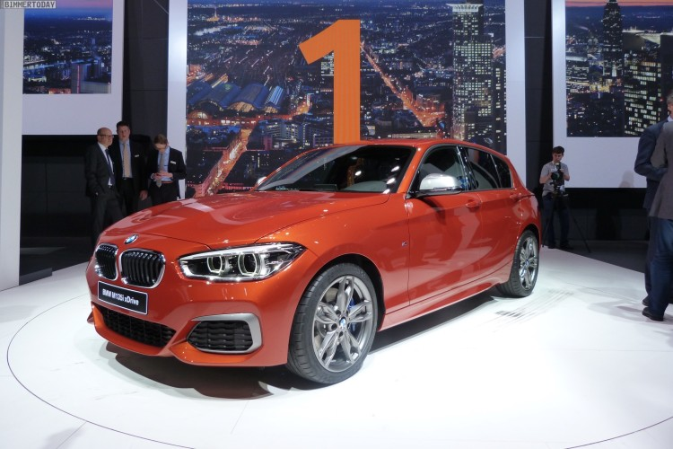 BMW M135i Facelift 2015 F20 LCI xDrive Valencia Orange Autosalon Genf Live 13 750x500