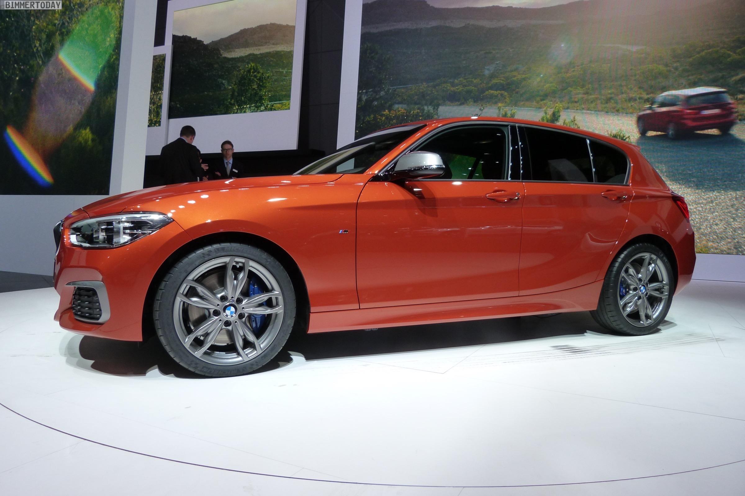 BMW M135i Facelift 2015 F20 LCI xDrive Valencia Orange Autosalon Genf Live 20