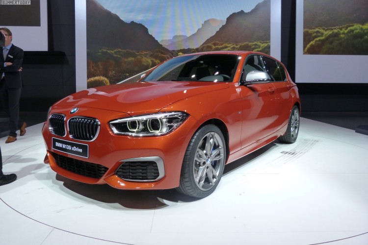 BMW M135i Facelift 2015 F20 LCI xDrive Valencia Orange Autosalon Genf Live 21 750x500