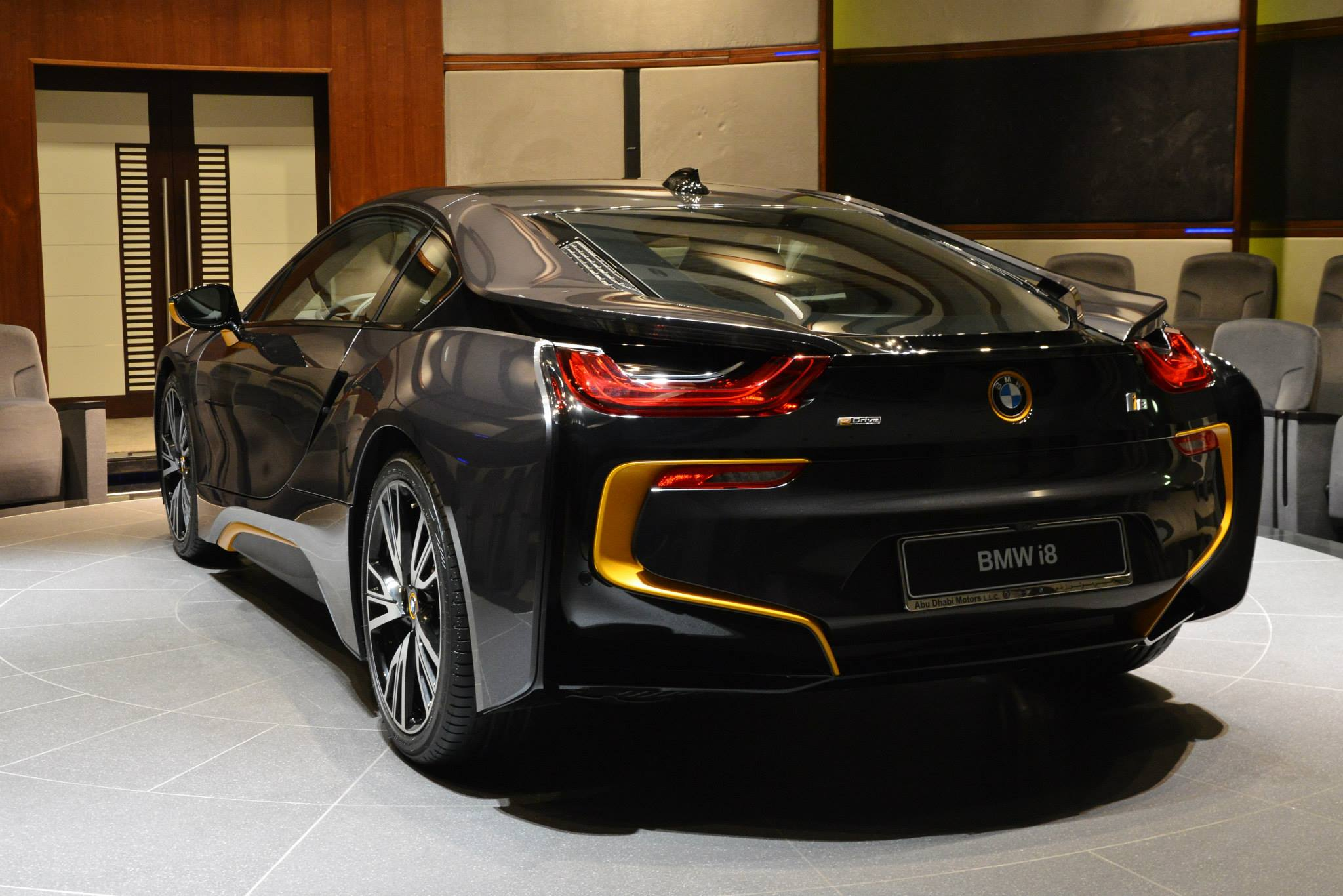 Bmw I8 In Sophisto Grey With Yellow Accents