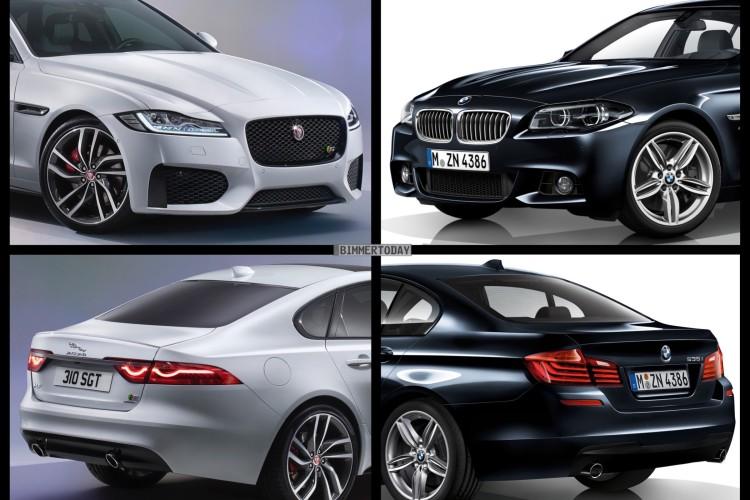 Bild Vergleich BMW 5er F10 M Paket Jaguar XF S Limousine 2015 01 750x500