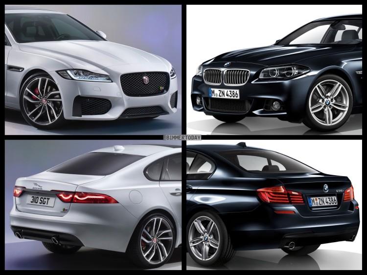 Bild Vergleich BMW 5er F10 M Paket Jaguar XF S Limousine 2015 01 750x562