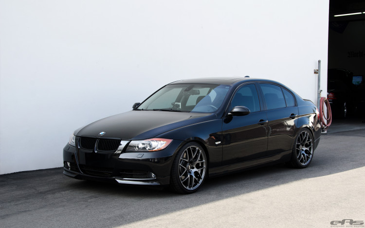 Jet Black BMW E90 335i Looks Clean With Aftermarket Wheels 3 750x469
