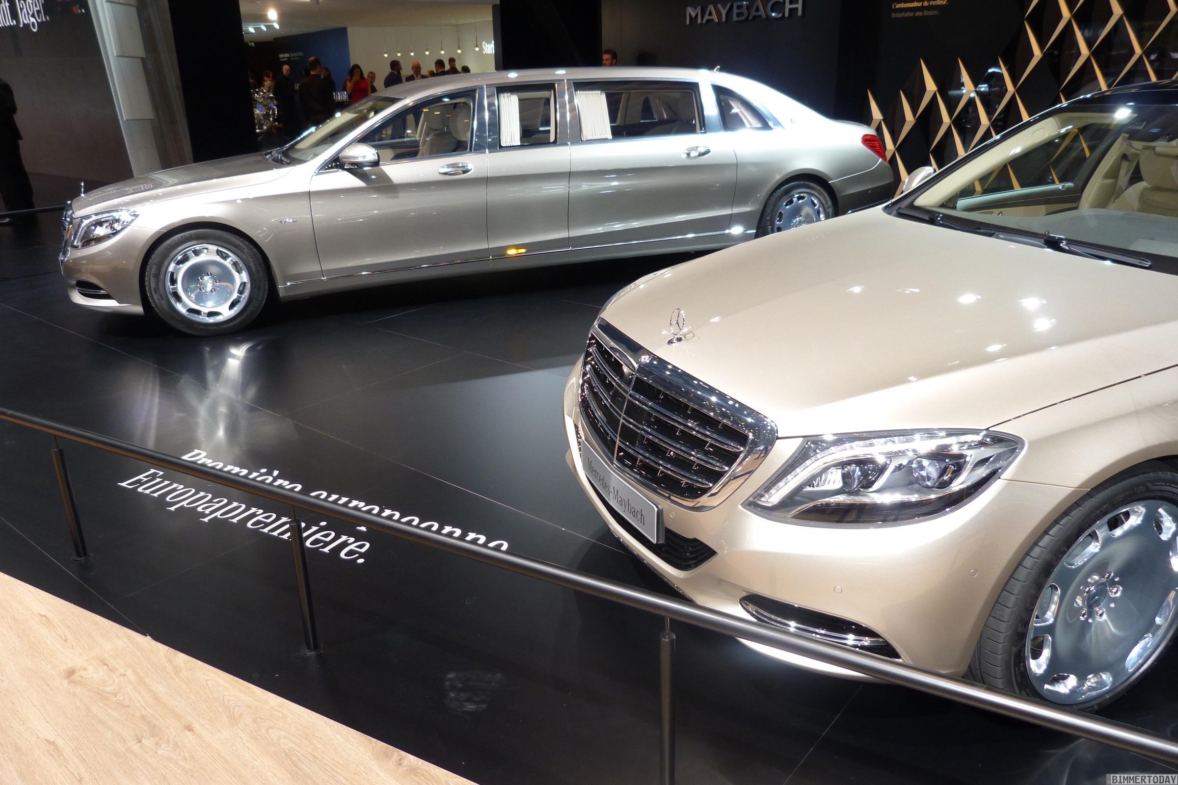 Mercedses Maybach S Klasse Pullman 2015 Genf Autosalon Live 01