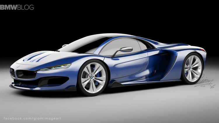 Rendering Bmw Hypercar To Compete With Mclaren P1 And