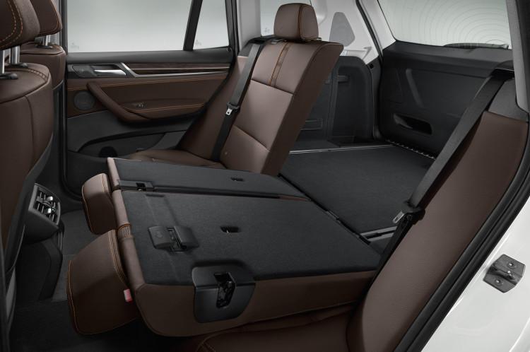 2015 bmw x3 rear seats folded down 750x498