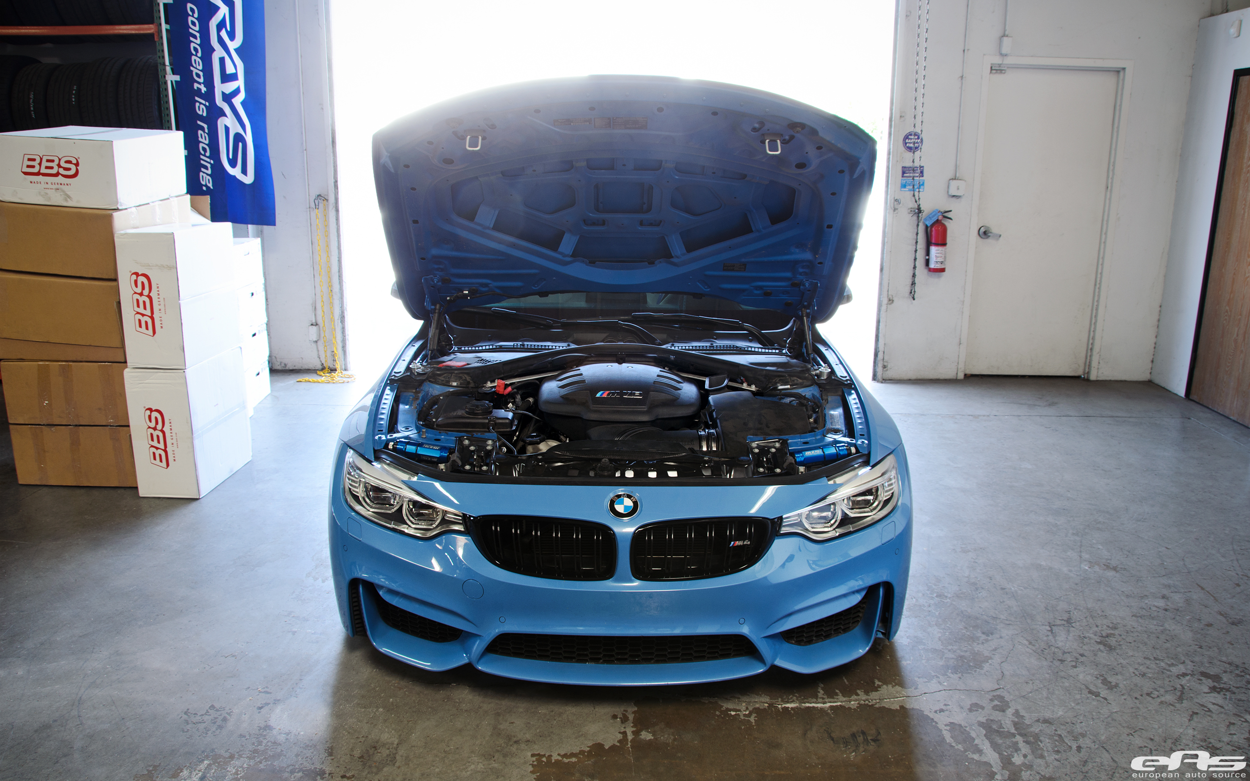 A BMW F82 M4 Gets A V8 Powerplant Installed By European Auto Source 1