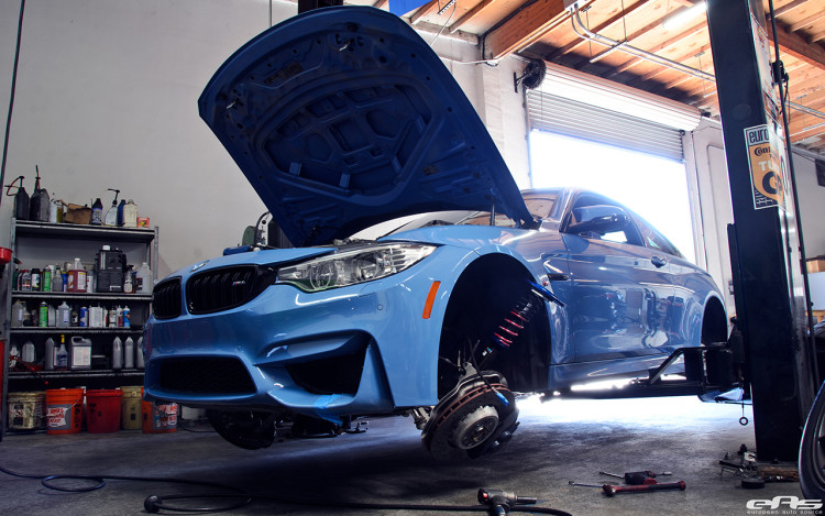 JRZ RS Pro Coilovers Installed On A Yas Marina Blue M4 Image 8 750x469