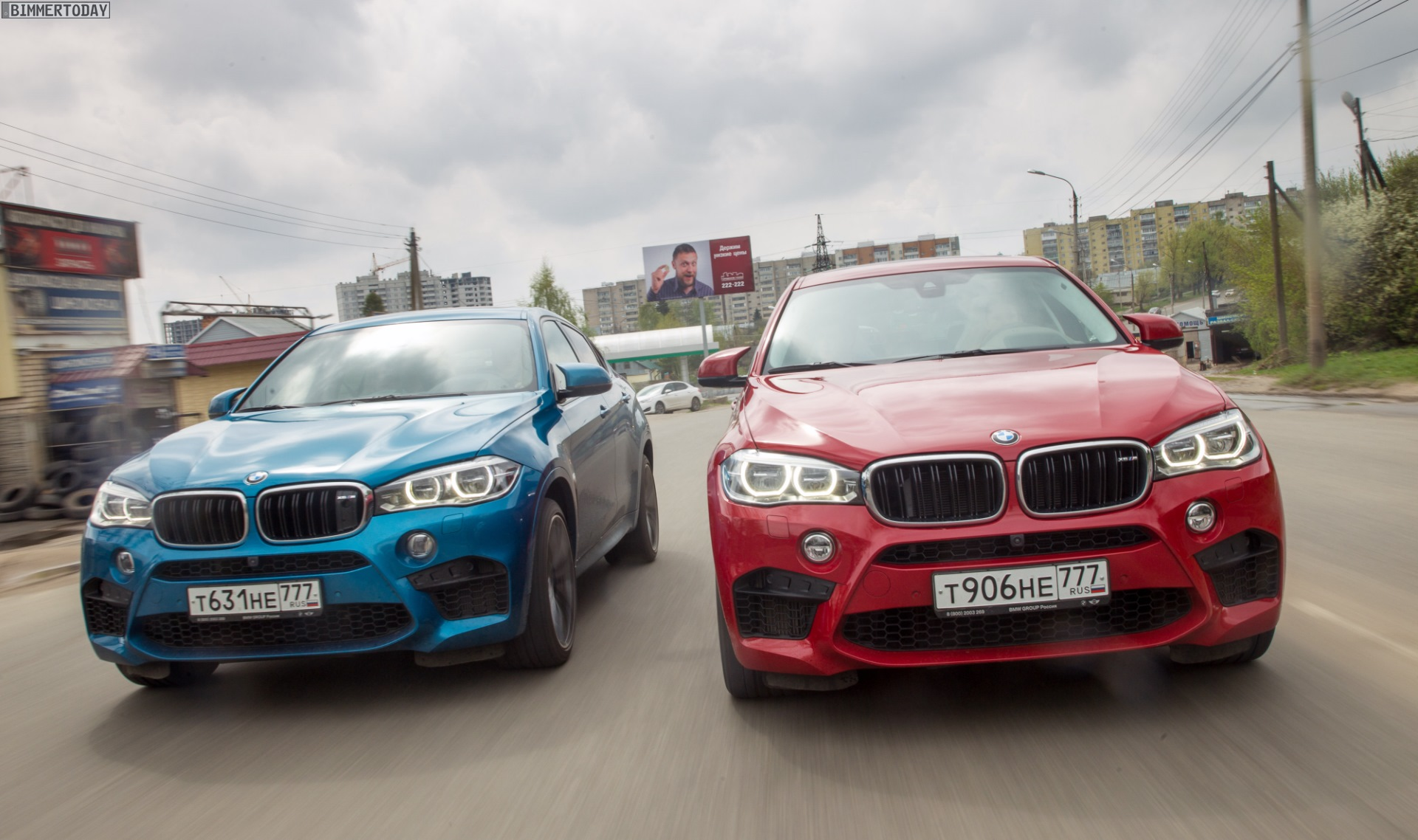 2015 Bmw X6 M Gets Rained On