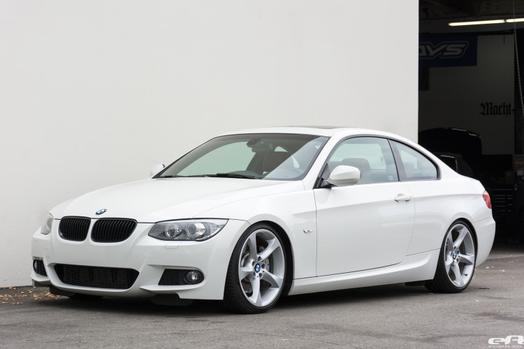Alpine White BMW E92 335i Gets A Suspension Update 2 750x500