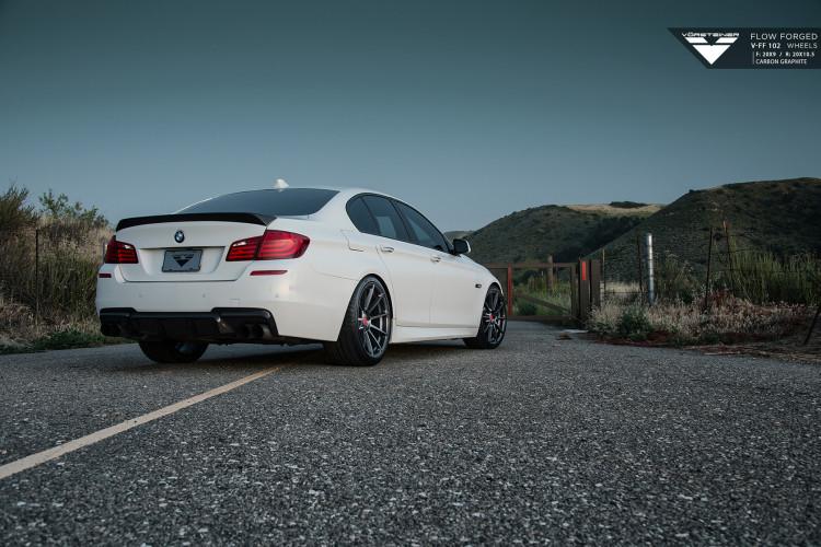 Alpine White BMW F10 M5 With Vorsteiner Aero And Wheles Installed 5 750x500