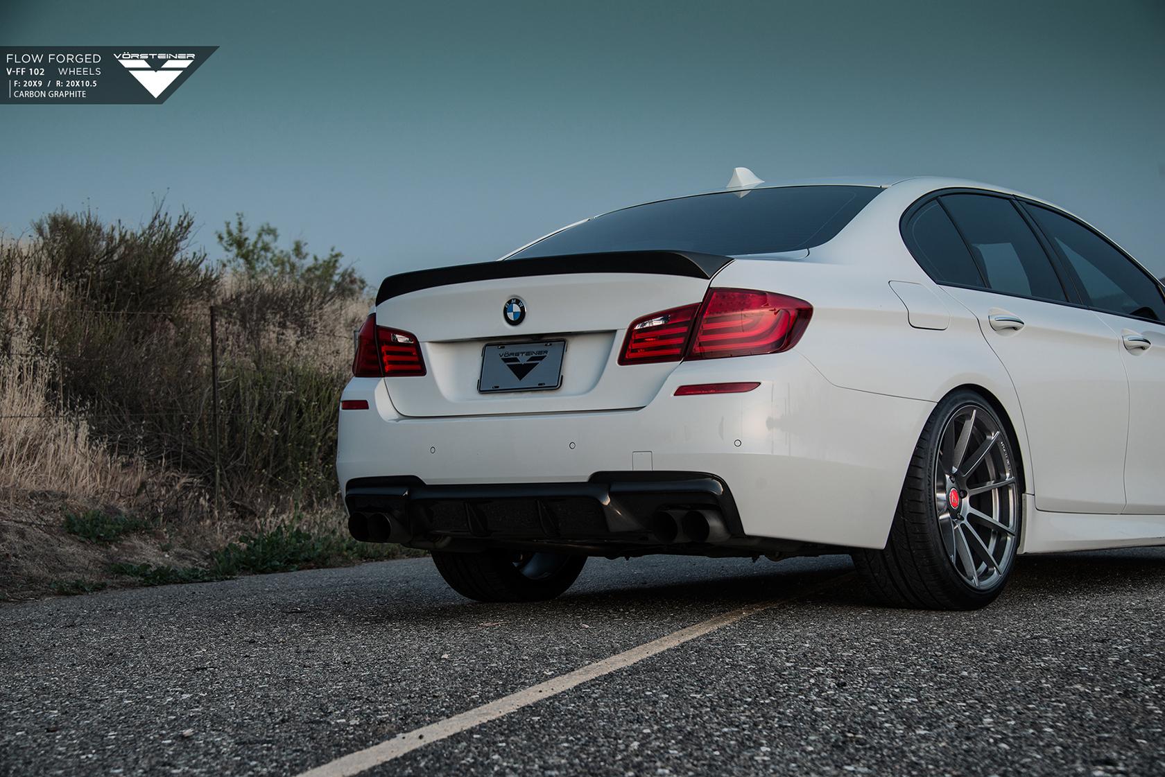 Alpine White BMW F10 M5 With Vorsteiner Aero And Wheles Installed 6