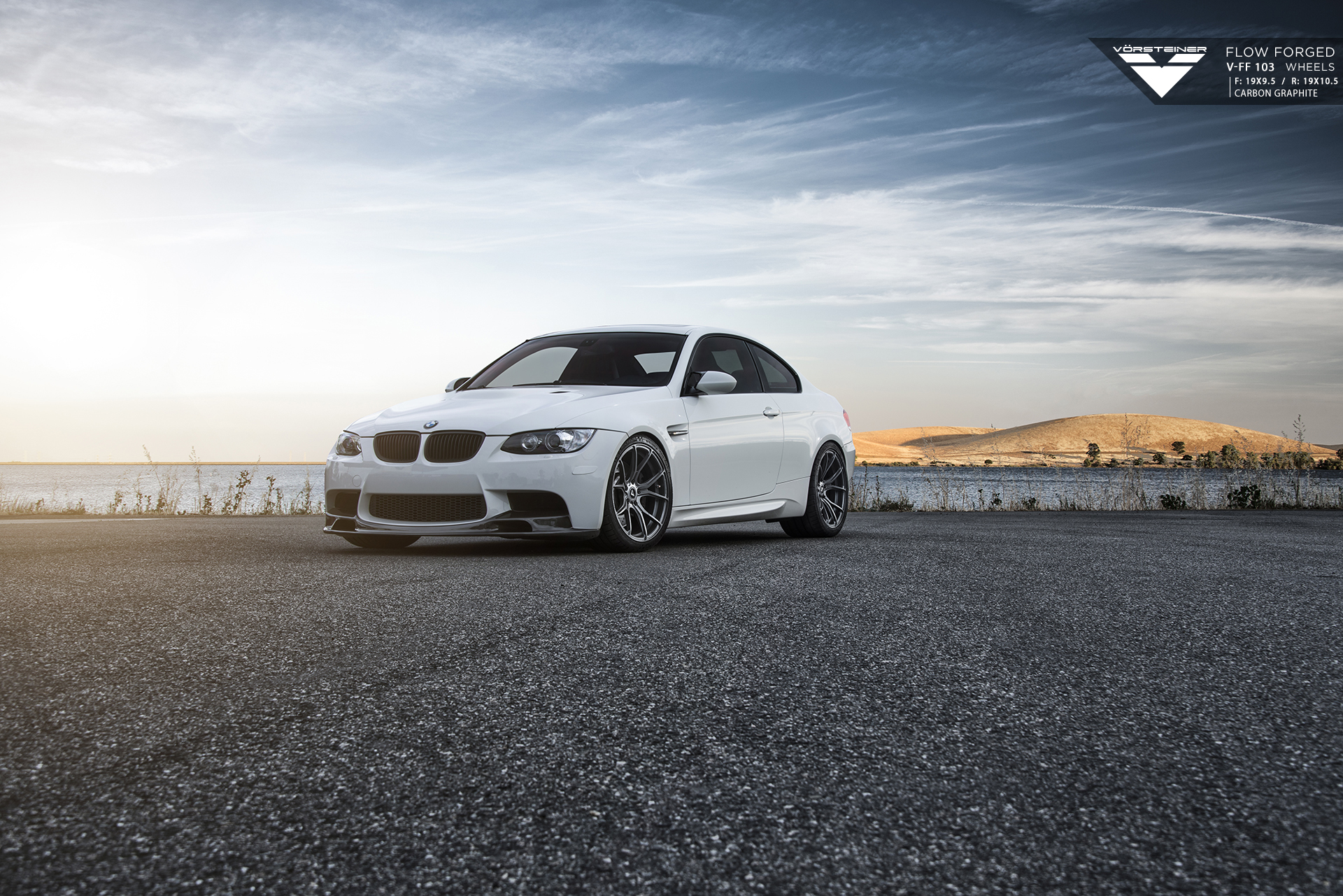 BMW E92 M3 on Vorsteiner Flow Forged V FF 103 Wheels 1