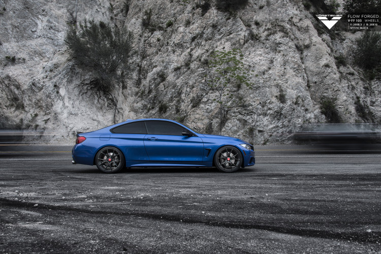 Estoril Blue BMW 4 Series With Vorsteiner Wheels Installed By VIBE Motorsports 2 750x500