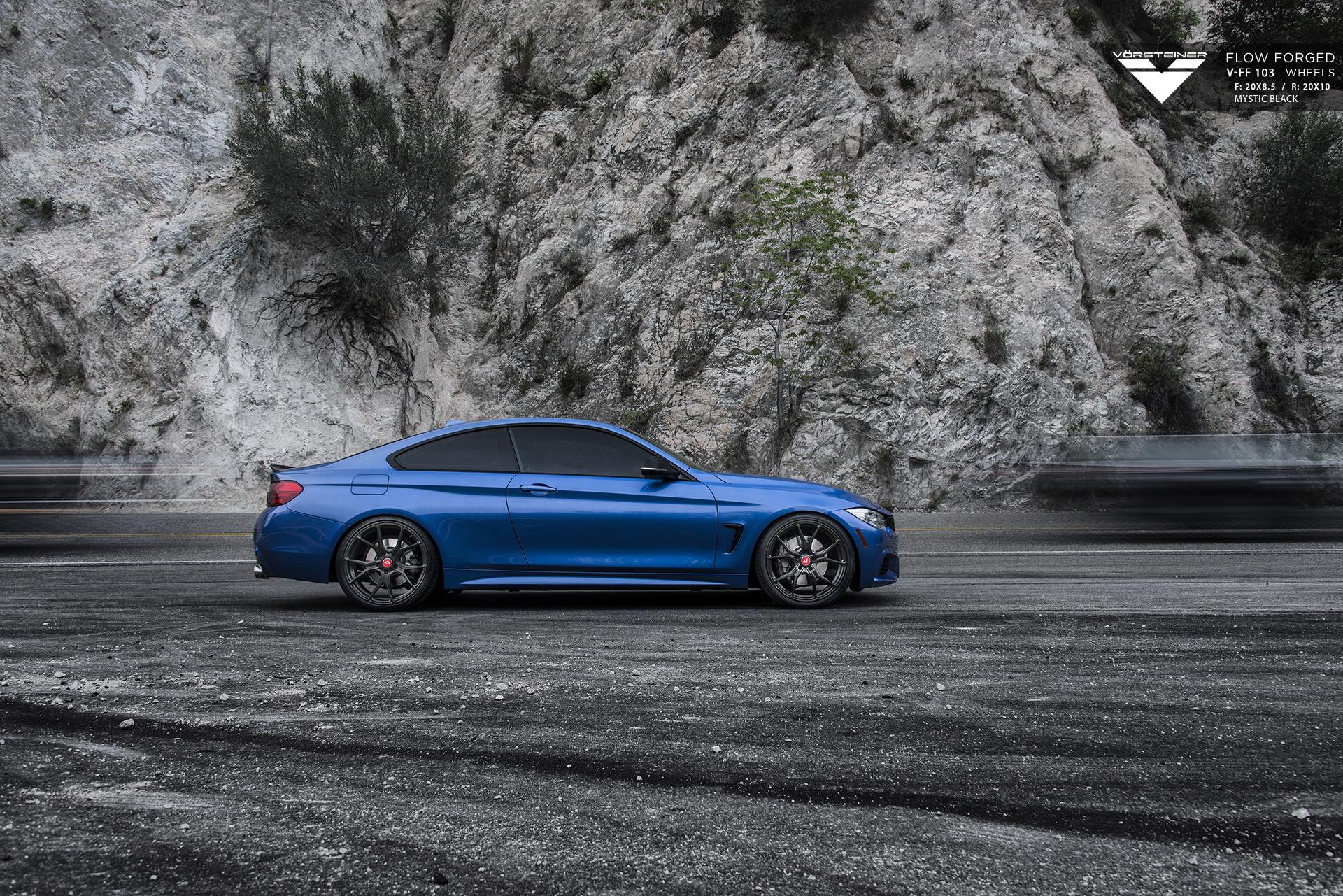 Estoril Blue BMW 4 Series With Vorsteiner Wheels Installed By VIBE Motorsports 2